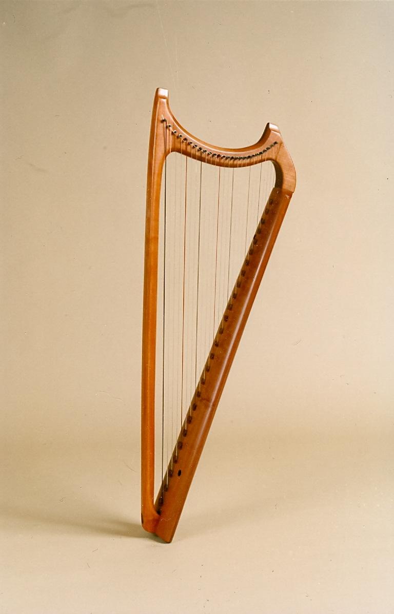 wartburg singles Wartburg single-row harp (circa 1350-1450) carved sound-box height 109 cm 26 strings (f to c''').